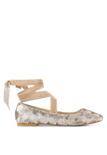 ZALORA pink Sequinned Ballerina Shoes EE5BDSH3268E61GS_1