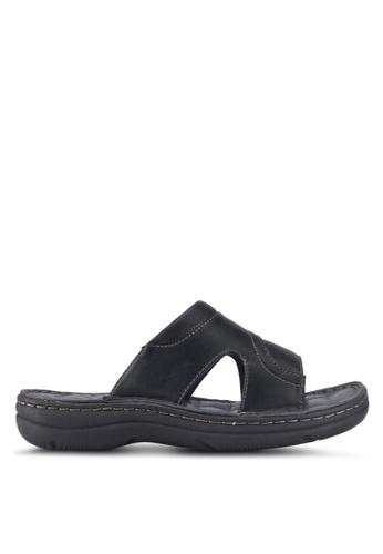 Bata black Bata Casual Sandals D8B9BSH81E217FGS_1