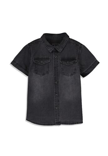 LC Waikiki grey Casual Denim Shirt 551F7KA065A021GS_1