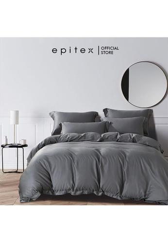 Epitex grey Epitex HOMME 1600TC Tencel Bedsheet - Fitted Sheet Set - Bedding Set - EHS2211 (Charcoal) 06727HL0125836GS_1