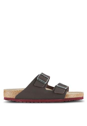 Birkenstock brown Arizona Soft Footbed Desert Soil Camou Sandals BI090SH0RTJ5MY_1
