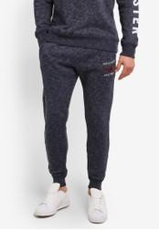 Hollister navy Skinny Logo Sweatpants HO422AA0SBOVMY_1