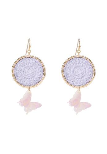 Saturation purple Purple Dreamcatcher Drop Earrings 22D70ACD492D42GS_1