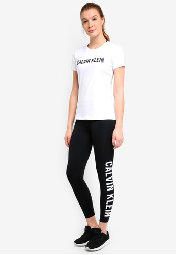Calvin Klein white CK Logo Ss Tee - Calvin Klein Performance CE852AAF18F736GS_1