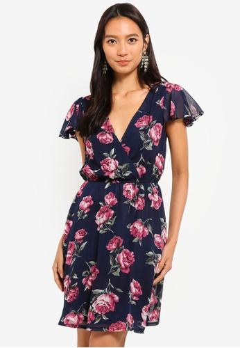 153732fc317 Shop Mela London Floral Wrap Dress Online on ZALORA Philippines