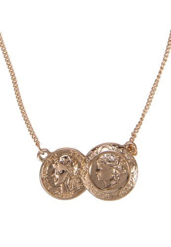 Double Coin Delzalora 手錶 評價icate Short Necklace, 飾品配件, 飾品配件