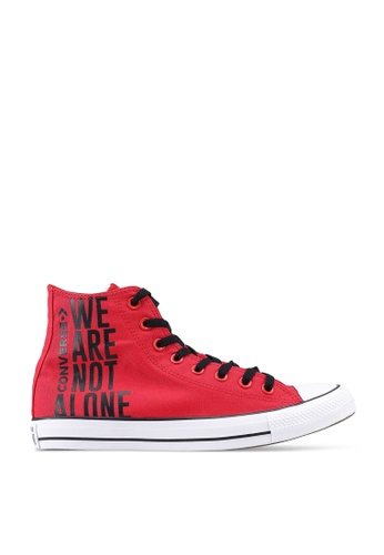 Converse red Chuck Taylor All Star We Are Not Alone Hi Sneakers 7DC40SH23F54D6GS_1