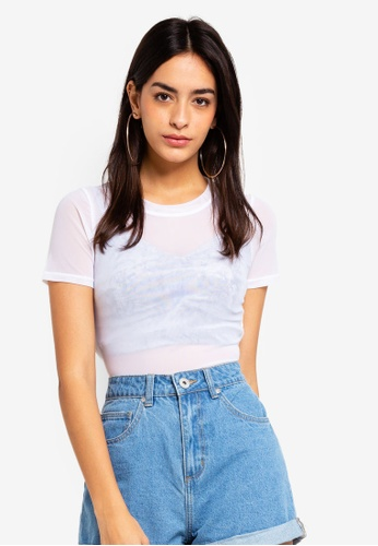 Factorie white Short Sleeve Mesh T Shirt B82E9AAA981C91GS_1