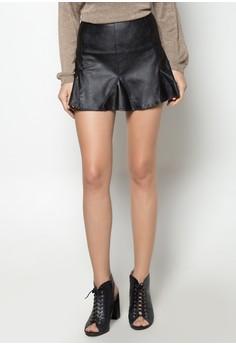 Misfit Pieced Faux Leather Mini