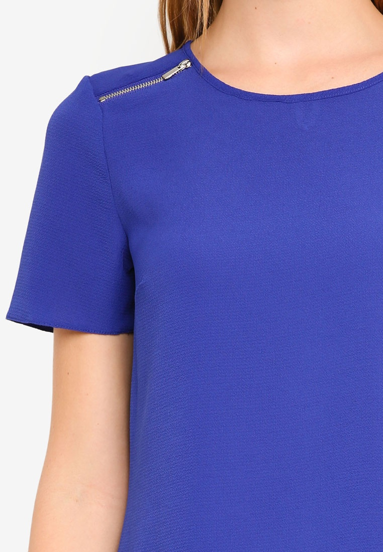 Blue Dorothy Blue Soft Tee Zip Perkins FSX046Sv