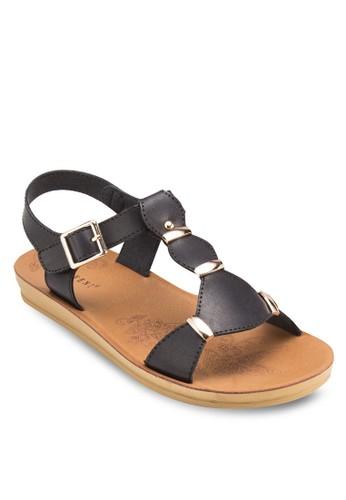 金屬飾繞踝平底涼鞋, 女鞋, esprit台北門市鞋