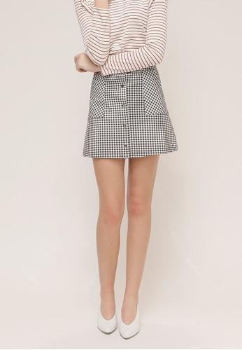 A字方格迷妳短裙, 服飾, 短esprit暢貨中心洋裝
