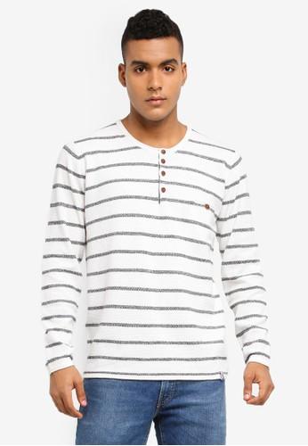 Indicode Jeans white Kennedy Knitted Grandad Sweater 02785AADD48B67GS_1