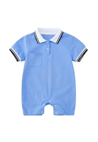 RAISING LITTLE blue Oscare Romper - Blue F32FCKA801FC0EGS_1
