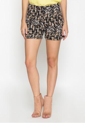 Blanik brown Rylee Short Printed Pants BL598AA0VRRCID_1