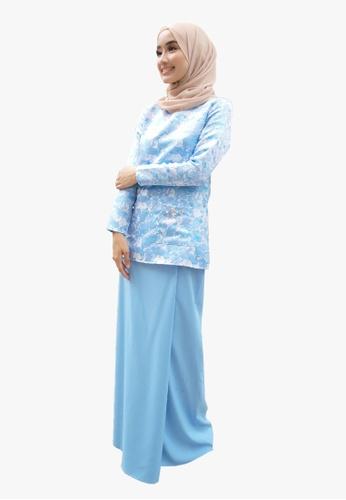 Kurung Kedah Brocade from Zoe Arissa in Blue