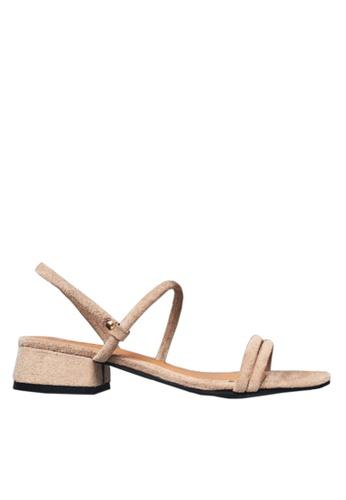 Twenty Eight Shoes beige Two Ways of Wearing Strappy Low Heels VS1297 D9308SH9639175GS_1