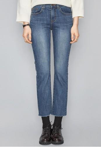 簡約風zalora 鞋評價直筒牛仔褲, 服飾, 多色牛仔褲
