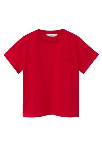 MANGO KIDS red Organic Cotton Pocket T-Shirt 0A7E2KA6CEE0D7GS_1