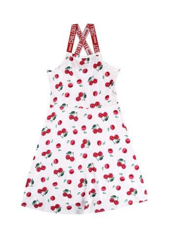 FOX Kids & Baby white Cross Back Printed Dress 9E30AKA36E5503GS_1