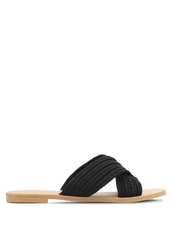 ZALORA black Braided Sandals BD2A3SHB1360DAGS_1