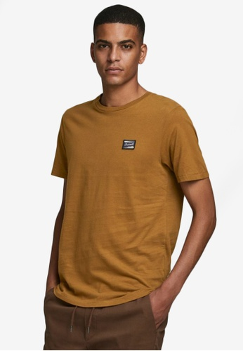 Jack & Jones brown Short Sleeves Crew Neck Tee BA7E3AA55744E6GS_1