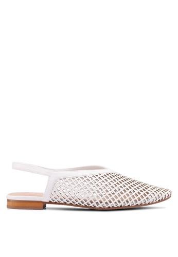 Mango 白色 Laser-Cut Slingback Shoes 2D8BDSH82D521BGS_1