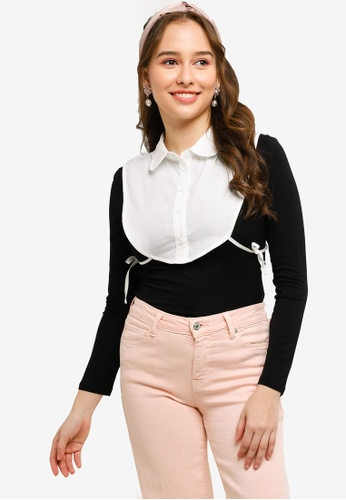 Lubna white Detachable Shirt Dickie 6BBC3AAC1CFDAAGS_1