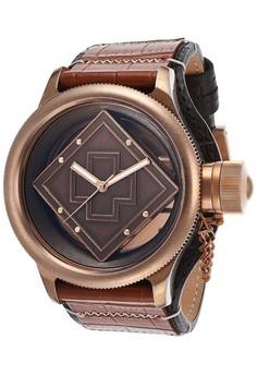 Russian Diver Men 52mm Case , Leather Strap Watch 16062