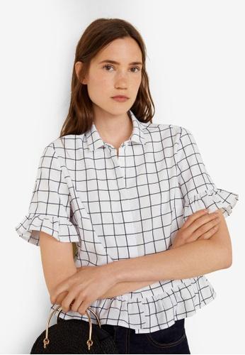 Mango white Ruffled Cotton Shirt DEFC4AA3BF9867GS_1