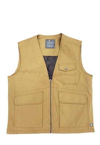 East Pole yellow Men's Outdoor 3 Pockets Autumn Winter Gilet 8E9FBAAAB138EFGS_1