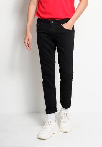 Hi Style black Slim Fit Long Jeans 11D48AAE531337GS_1