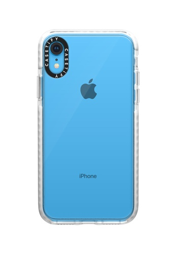 Casetify white Impact Protective Clear Case for iPhone XR – Frost FEFE1AC7ADA47BGS_1