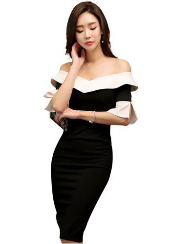 Sunnydaysweety black Black Elegant Off-shoulder Dress CA032912 SU219AA0H9SFSG_1