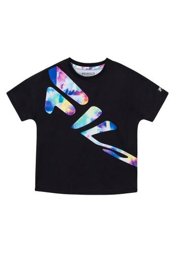 FILA black FILA KIDS Graffiti FILA Logo T-shirt 8-15yrs 64DCFKA1DD4669GS_1
