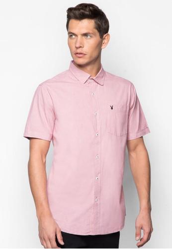 細格紋短袖襯衫, 服飾esprit 童裝, 短袖襯衫