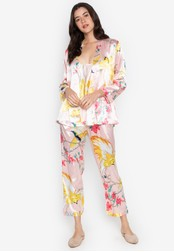 FEMINISM pink Three Pieces PJ Set 06403AA46E4231GS_1
