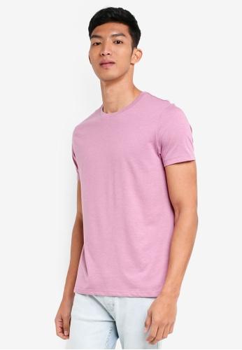 Burton Menswear London 粉紅色 圓領素色T恤 4206FAA6BF5319GS_1