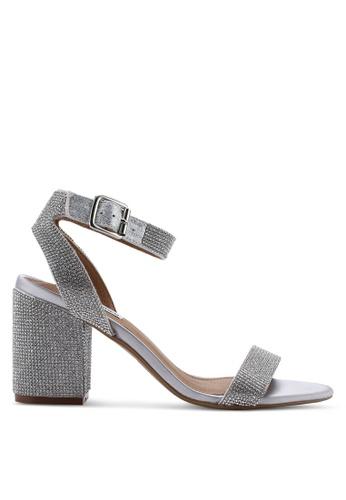 5e90a5fd35e Malia Open Toe Ankle Strap Block Heels