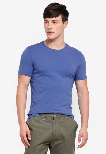 Burton Menswear London 藍色 修身T恤 B594EAA20028E9GS_1
