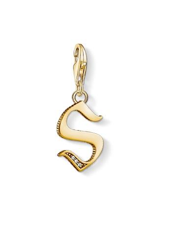 "THOMAS SABO gold Charm pendant ""letter S gold"" C744DAC30887FDGS_1"