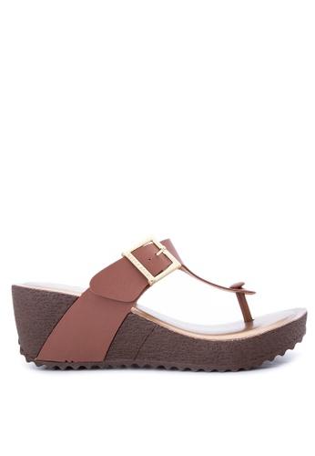 Terra Agua Brown Wedge Sandals Te240sh08cpfph 1