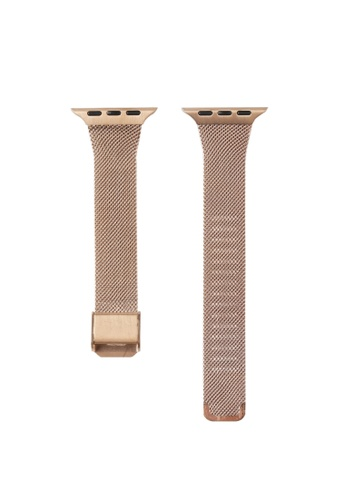 Kings Collection gold Rose Gold Stainless Steel Apple Watch Band 42MM (KCWATCH1010) 14C53ACF7FEFB4GS_1