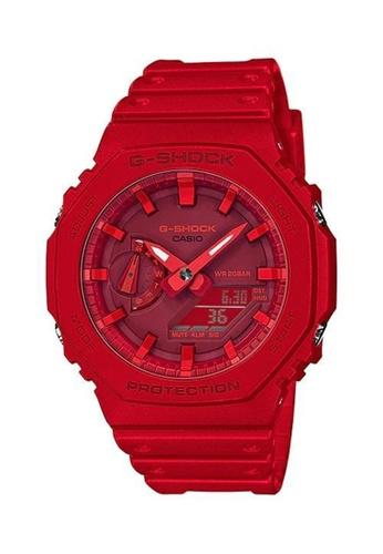 Casio red G-Shock Carbon Core Guard Watch (GA-2100-4A) 0F5A2ACB138ED6GS_1