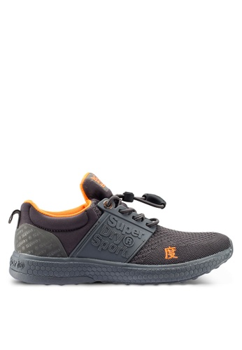 Superdry grey Super Freesprint Mono Shoes 483F1SH4BAB7E6GS_1