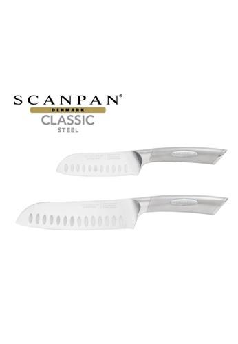 SCANPAN SCANPAN Classic Steel 2pc Santoku Knife Set FDB07HL8156382GS_1