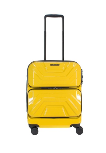 "Lushberry yellow Aviator Hardcase Cabin Size Luggage-19"" FBF19AC13FEF48GS_1"