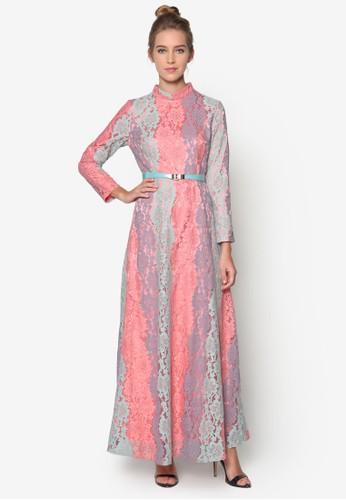 Zarah 彩色蕾絲長洋裝, 服飾, 女esprit holdings性服飾