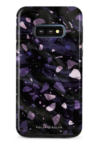 Polar Polar purple Lilac Terrazzo Gem Dual-Layer Tough Case Glossy For Samsung Galaxy S10E 42468AC89693C4GS_1