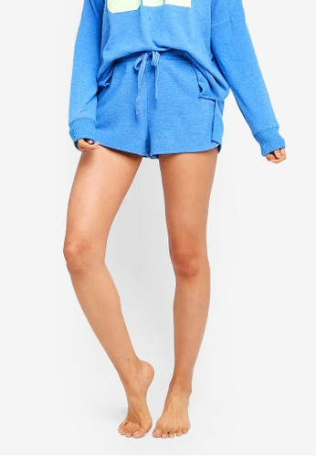 Cotton On Body blue Supersoft Lounge Shorts F326CAA905DF24GS_1